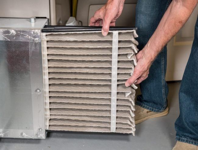 Replace Filters During Furnace Troubleshooting