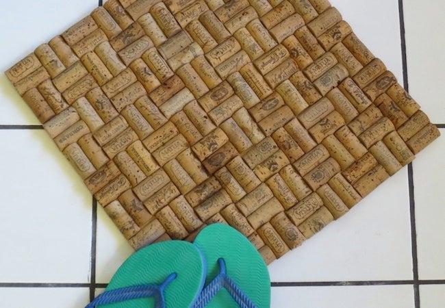 Wine Cork Projects - Bathmat