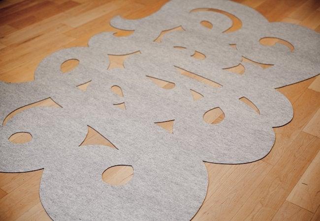DIY Rug - Cut Out