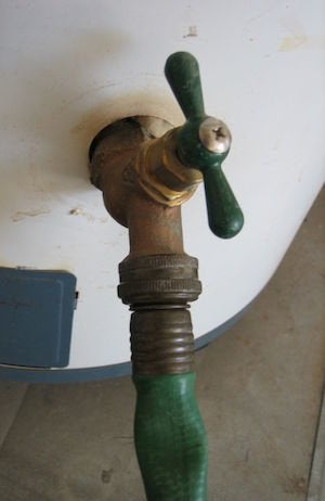 How to Drain a Water Heater - Valve