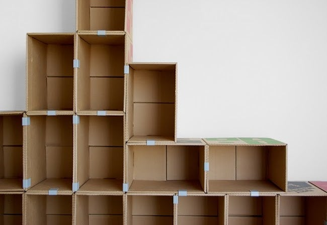 DIY Cardboard Projects - Shelving