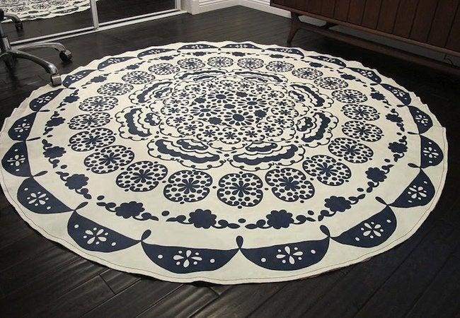 DIY Rug - Tablecloth