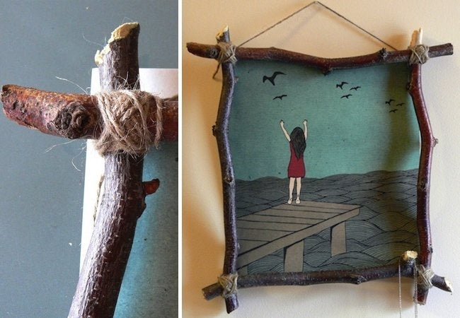 DIY Picture Frame - Twig