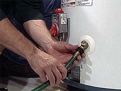 draining water heater