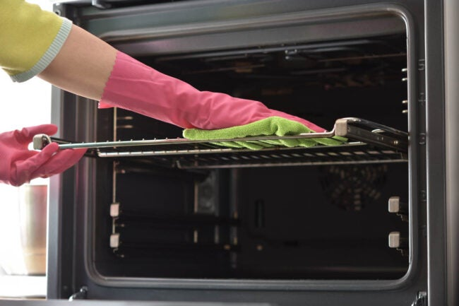 How To Clean Oven Racks with Bar Keeper's Friend and Water
