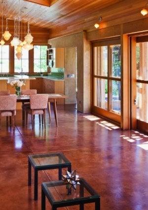 How to Stain Concrete - Open Floor