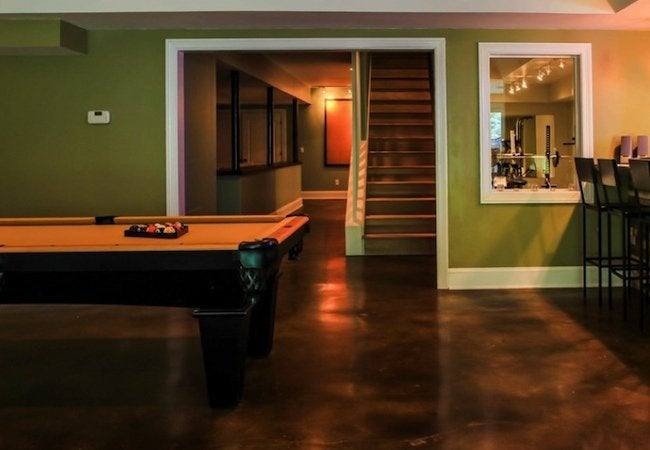 How to Stain Concrete - Basement Floor