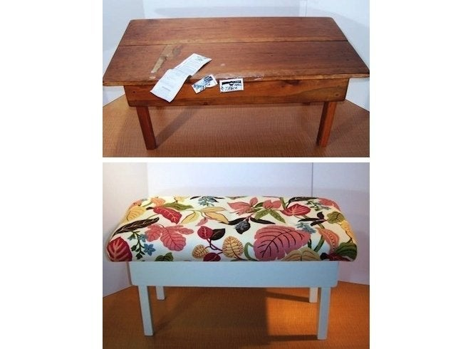 DIY Bench - Coffee Table Makeover