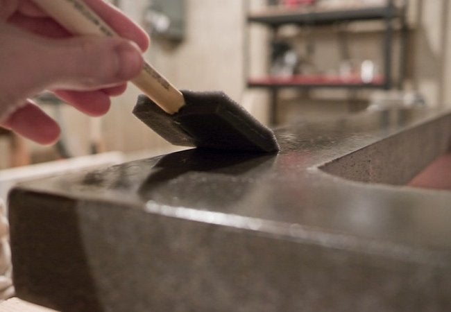How to Make Concrete Countertops - Finishing