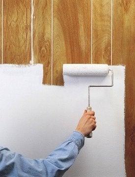 Cómo pintar paneles de madera - rodillo