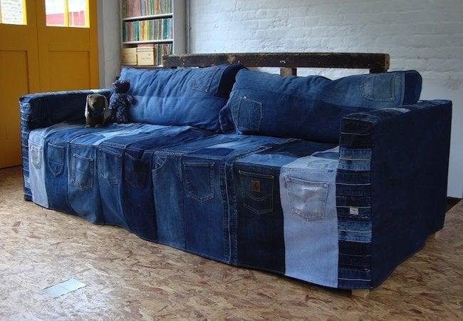 DIY Denim Projects - Slipcover