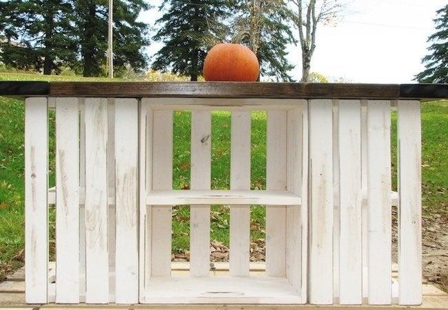 DIY Kitchen Island - Wooden Crates