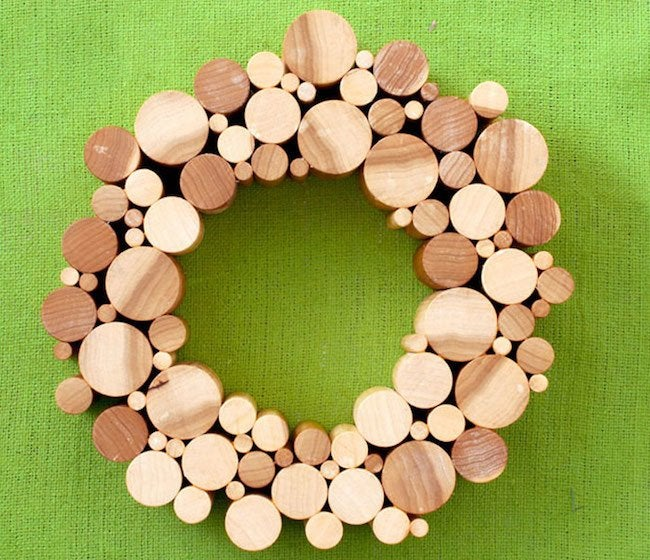 Uses for Dowels - Wreath