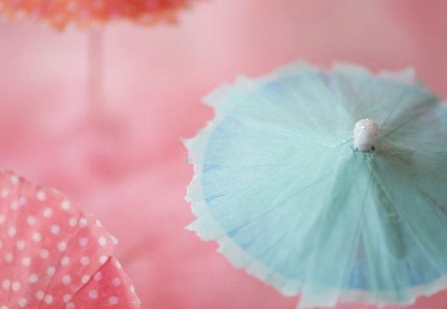 Washi Tape Projects - Drink Umbrellas
