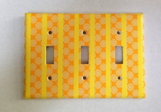 Washi Tape Projects - Outlet Cover