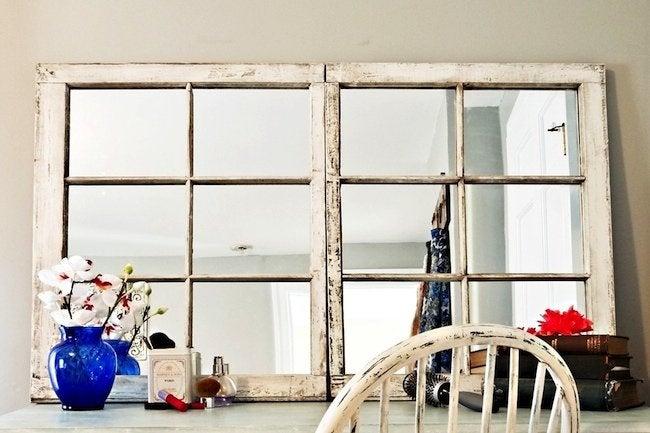 DIY Mirror Frame Projects - Repurposed Window