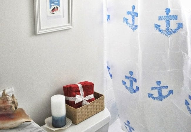 How to Make a Shower Curtain - Stencil