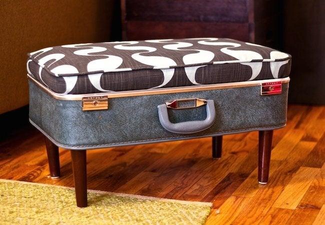 DIY Ottoman - Suitcase