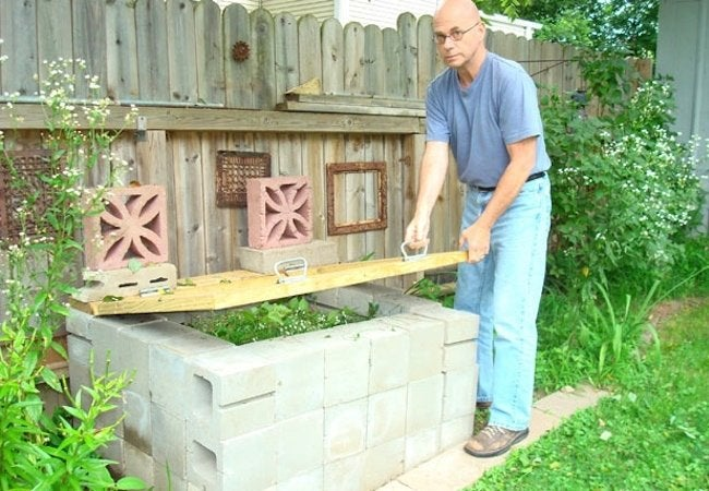 DIY Compost Bin - Cinder Blocks