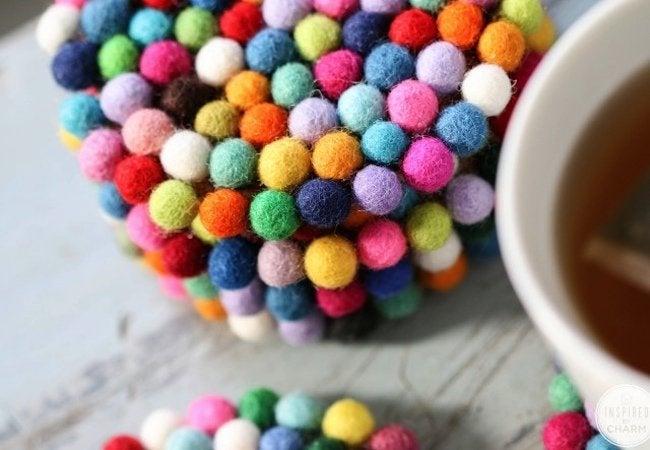 DIY Coasters - Felt Balls