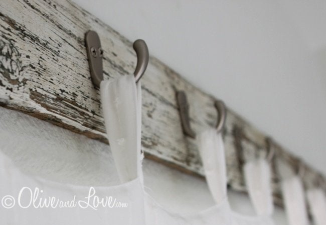 DIY Curtain Rod - Hooks