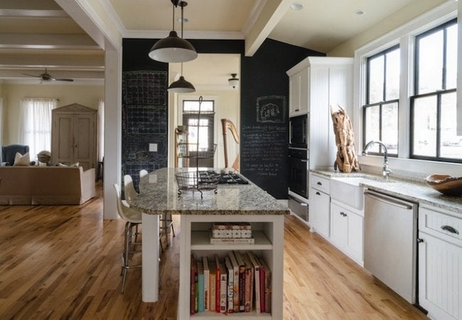 How to Make Chalkboard Paint - Kitchen Wall