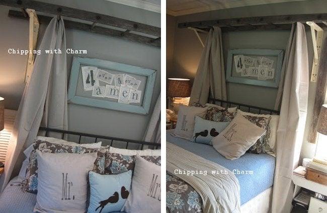 DIY Canopy Bed - Ladder