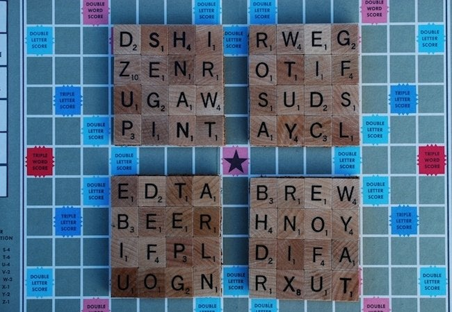 DIY Coasters - Scrabble Tiles