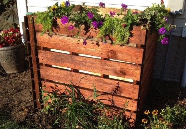 DIY Compost Bin - Shipping Pallets