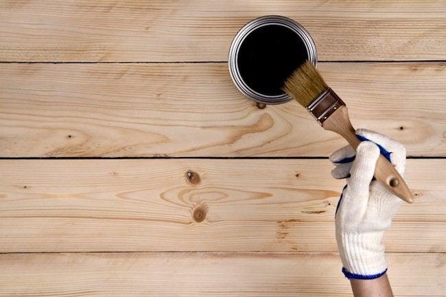 Paint Raw Wood