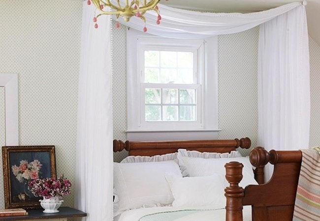 DIY Canopy Bed - Swing Arms