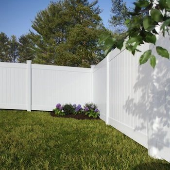 Linden Pro Vinyl Privacy Fence Kit at The Home Depot