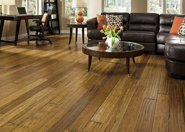 Distressed Honey Strand Bamboo Flooring from Lumber Liquidators