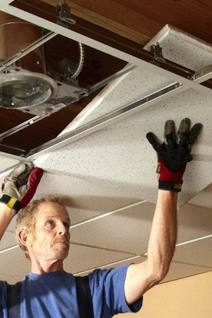 How to Install a Drop Ceiling - Detail