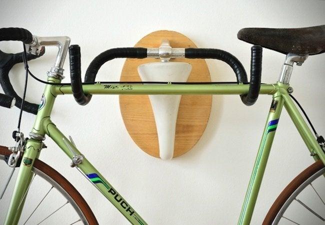 DIY Bike Rack - Handlebars