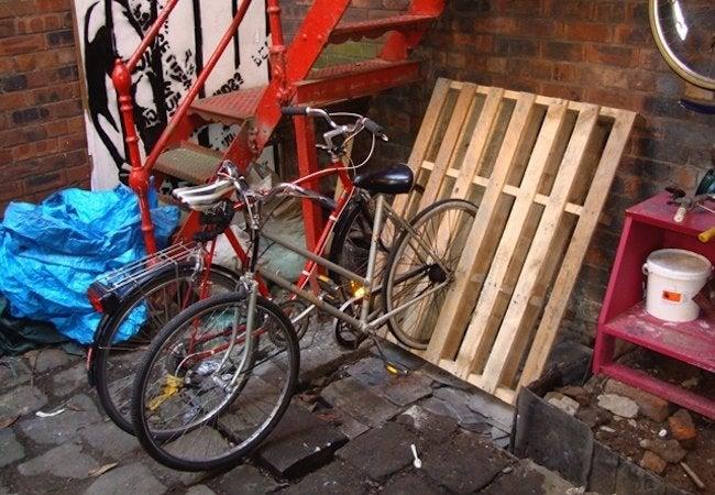 DIY Bike Rack - Pallets