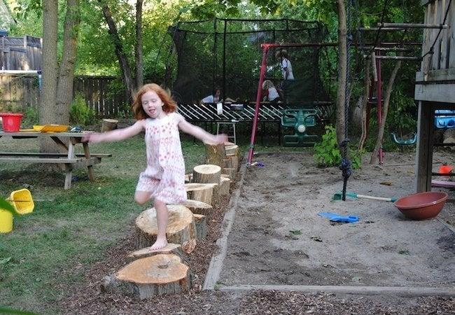 Tree Stump Ideas - Playground