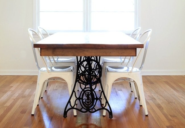 DIY Dining Table - Sewing Machine