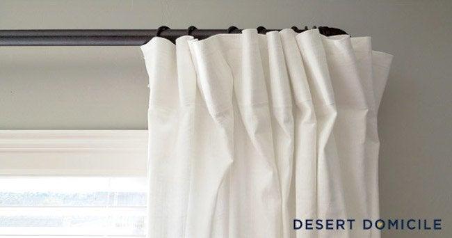 DIY Pipe Curtain Rod