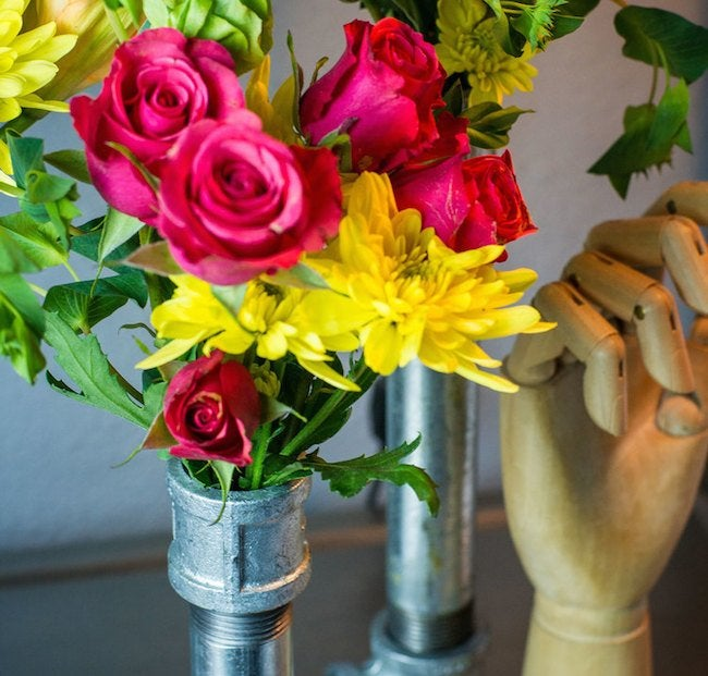 Finished DIY Pipe Vase