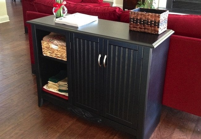 How to Spray Paint Furniture - Cabinet Makeover After