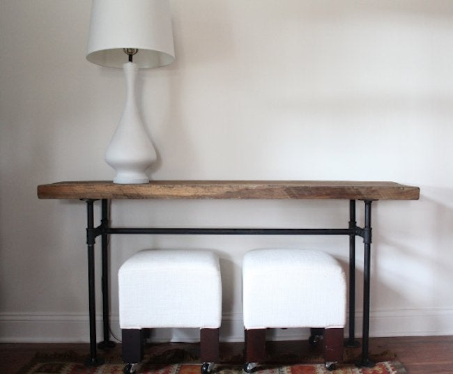 DIY Pipe Console Table Front View