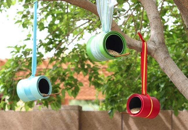 DIY Bird Feeder - Paint Can
