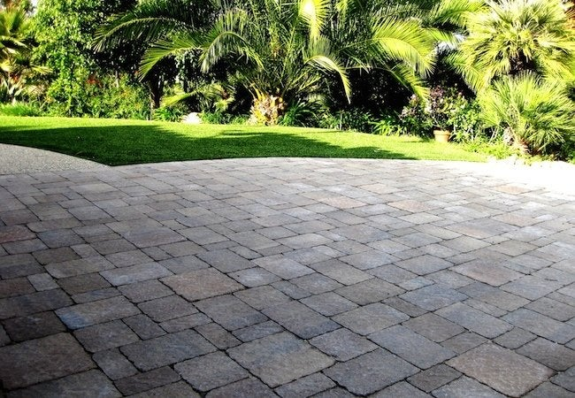 Installing Pavers - Installed