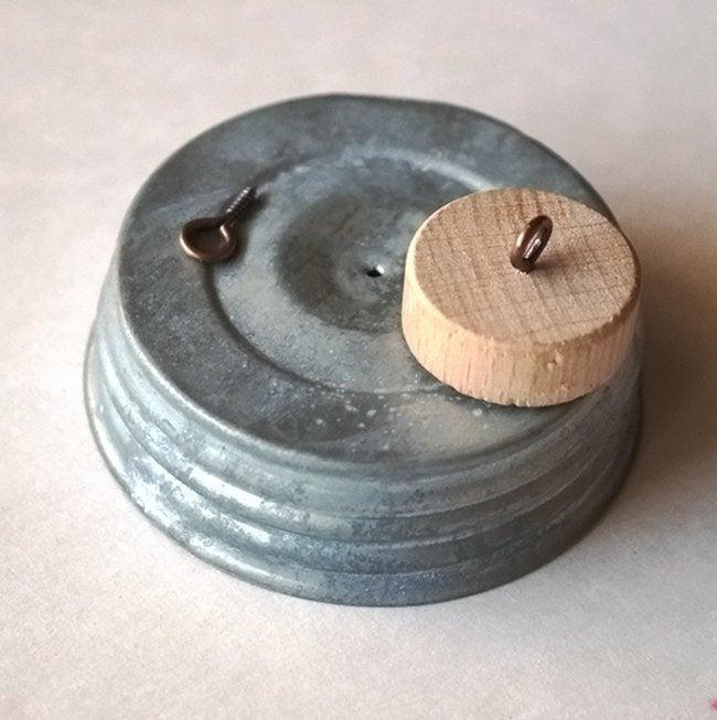 Mason Jar Wind Chime - Eye Hook