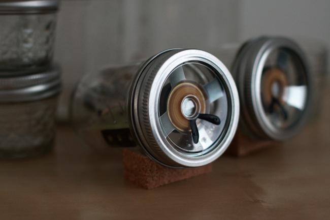 DIY Mason Jar Speakers - Detail