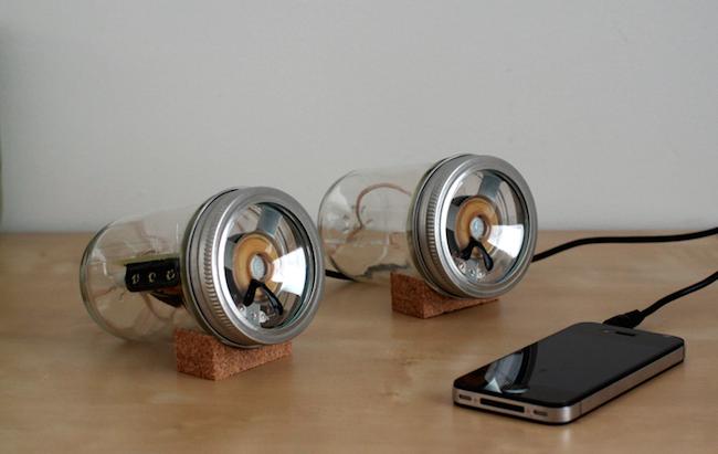 DIY Mason Jar Speaker Set - after