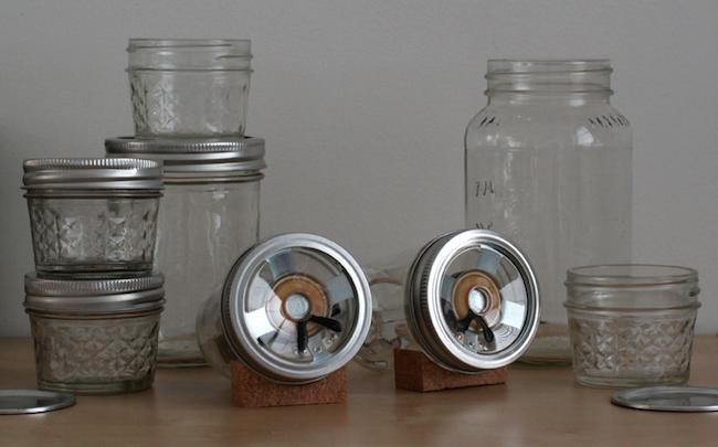 DIY Mason Jar Speaker Set - Glass Vignette