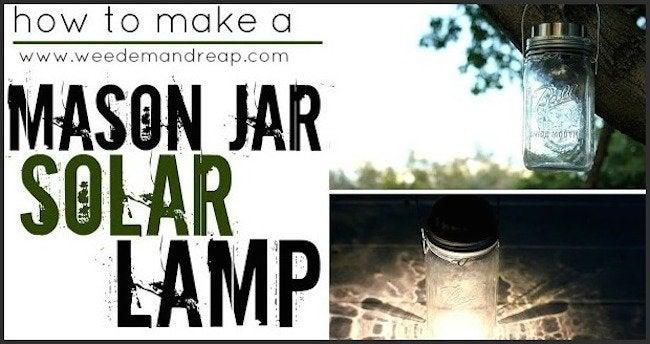 Mason Jar Solar Lamp - Banner