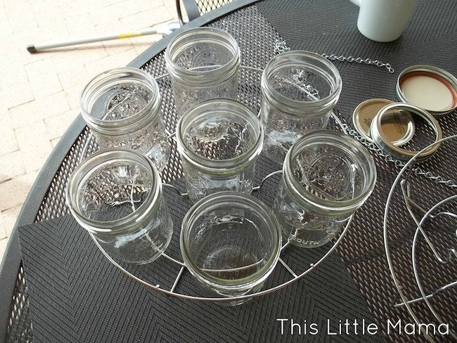 Mason Jar Chandelier DIY - Assembly